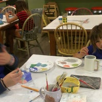 Photo taken at Alisa's Painted Bistro/Color Me Mine by Janet F. on 3/27/2013