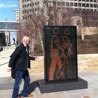 Photo taken at Citygarden by Liz M. on 3/23/2013