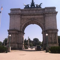 Photo taken at Endale Arch - Prospect Park by Melissa R. on 7/29/2013