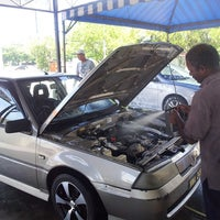 Photo taken at BHP SS12 car wash by Azlie J. on 8/4/2013