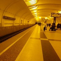 Photo taken at metro Ulitsa Akademika Yangelya by Дмитрий Г. on 11/27/2012