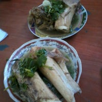 Photo taken at Nasi Sup Ajo Koro by Adi B. on 10/1/2012