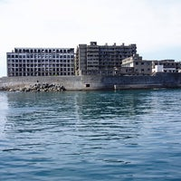 Photo taken at Hashima / Gunkanjima Island by Taben N. on 10/27/2012