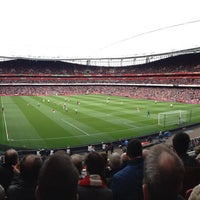 Photo taken at Emirates Stadium by Hayden B. on 4/28/2013