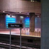Photo taken at Port Authority Steel Plaza Station by Tim P. on 9/1/2013