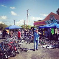 Photo taken at Texas Trash Clothing Exchange by Tito B. on 10/21/2012
