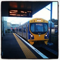 Photo taken at Onehunga Train Station by Ivan G. on 4/18/2013