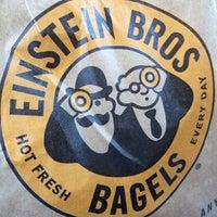 Photo taken at Einstein Bros Bagels by Kristen M. on 2/22/2014