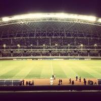 Photo taken at Estadio Nacional by Miguel V. on 1/10/2013