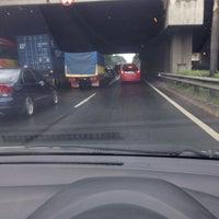 Photo taken at Jalan Tol Lingkar Luar Jakarta Seksi E1 (JORR E1) by Zeid B. on 6/2/2016