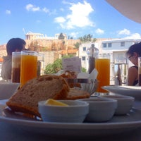 Photo taken at Cafe & Restaurant at Acropolis Museum by Christina K. on 6/28/2014