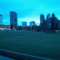 Photo taken at Bellevue Downtown Park by Samson N. on 2/18/2013