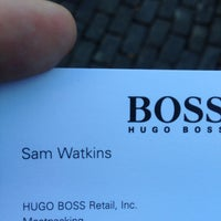 Photo taken at HUGO BOSS by Maurice H. on 11/3/2013