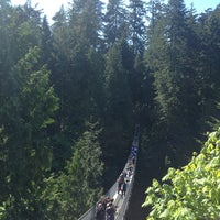 Photo taken at Capilano Suspension Bridge by Takuya G. on 5/25/2013