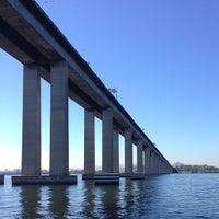 Photo taken at Ponte Rio-Niterói by Isabelle O. on 7/13/2013