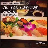 Photo taken at Sushi Samurai by Taro M. on 11/28/2013