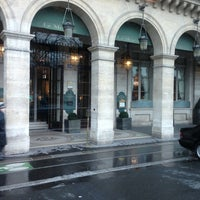Photo taken at Le Meurice by Clemence B. on 2/7/2013