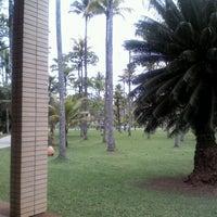 Photo taken at Praia do Sesc Bertioga by Elton G. on 9/15/2012