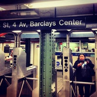 Photo taken at MTA Subway - Atlantic Ave/Barclays Center (B/D/N/Q/R/2/3/4/5) by Christopher J. on 12/16/2012