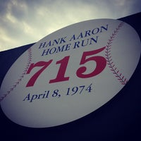 Photo taken at Hank Aaron 715 Home Run Marker by Stephen H. on 7/26/2013