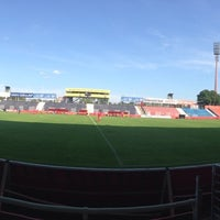 Photo taken at BSFZ Arena - Südstadt Stadion - Trenkwalder Arena by Walter R. on 8/10/2014