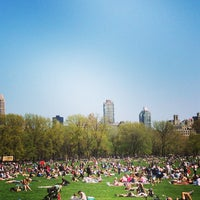 Photo taken at Sheep Meadow - Central Park by Hazel S. on 4/27/2013