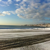 Photo taken at First Beach by Scott P. on 2/14/2013