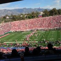 Photo taken at Rose Bowl Stadium by Sabrina W. on 1/1/2013