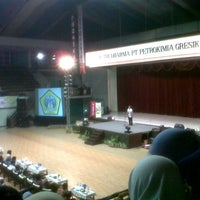 Photo taken at GOR Tridharma by Sonya P. on 11/3/2012