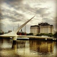 Photo taken at Puente de la Mujer by Federico B. on 10/6/2012