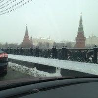 Photo taken at Bolshoy Kamenny Bridge by Alexa A. on 3/13/2013