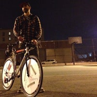 Photo taken at NYC Bike Polo - Baltic Court by Deco on 3/12/2014