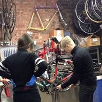 Photo taken at NYC Velo by Deco on 3/5/2014