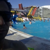 Photo taken at Pamset Pamukkale by Fikret O. on 7/6/2014