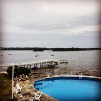 Photo taken at Linekin Bay Resort by Tim B. on 8/2/2014