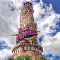 Photo taken at Islands Of Adventure Lighthouse by Paige on 9/10/2014