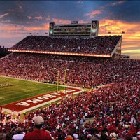 Photo taken at Gaylord Family Oklahoma Memorial Stadium by Christopher M. on 11/11/2012