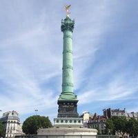 Photo taken at Place de la Bastille by Migue P. on 8/4/2013