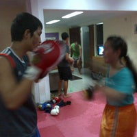 Photo taken at CENTERBASE Muaythai Camp by Evelina Y. on 2/11/2013