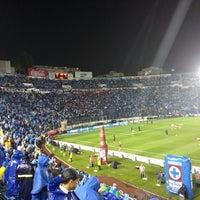 Photo taken at Estadio Azul by Manuel V. on 5/24/2013