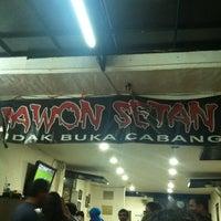 Photo taken at Rawon Setan by penjul a. on 11/3/2012