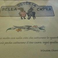 Photo taken at Osteria Della Capra Di Belli Romana E Angela by Emanuele C. on 11/3/2013