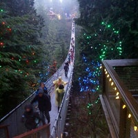 Photo taken at Capilano Suspension Bridge by Iurii C. on 12/28/2012