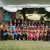 Photo taken at SMAN 1 Denpasar by Santi on 6/14/2014
