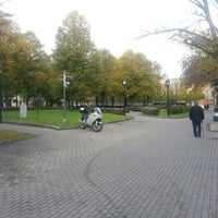 Photo taken at Jēkaba laukums (Jekaba square) by Alexey P. on 10/16/2012