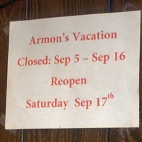 Photo taken at Armon's Cafe by Michael S. on 8/31/2016