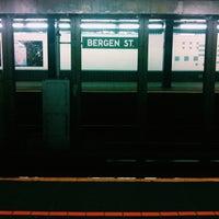Photo taken at MTA Subway - Bergen St (F/G) by Courtney T. on 7/9/2013