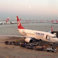Photo taken at Istanbul Atatürk Airport (IST) by Samet S. on 11/10/2013