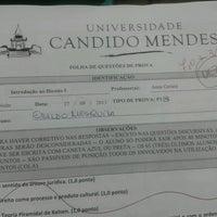 Photo taken at Universidade Candido Mendes (UCAM) by Eraldo M. on 10/4/2013