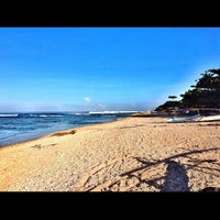 Photo taken at Pantai Ujung Genteng by Aldy A. on 4/20/2013